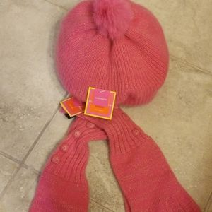 ❄NWT Isaac Mizrahi Cashmere Womens Hat and Gloves❄